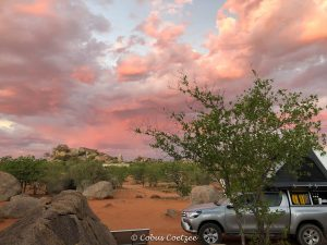 Sunset from campsite at Hoada in Damaraland