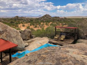 View from the swmming pool area at Hoada campsite in Damaraland