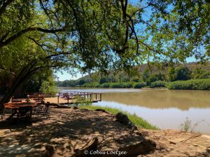 View over the river at Kunene River Lodge