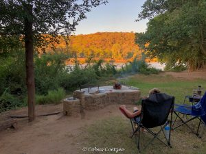 View from campsite at Kunene River Lodge