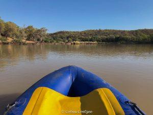 Kayaking on the Kunene river in Kaokoland